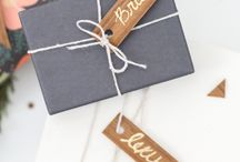 gift wrap ideas / by Lindsey Cheney