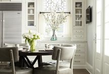Transitional Kitchen & Dining Room / Transitional kitchen and dining room - the house we're building is on a lake, so I'm going for a rustic meets contemporary transitional dining room and kitchen.  / by Jennifer {Fab Fatale}