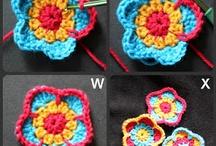 crochet flowers / by Valerie Bowen