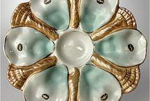 oyster plates / by debbie kryskowiak