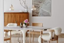 Mid-Century Modern Dining Room and Kitchen Decoration Ideas. / Our favorite mid-century modern dining room and kitchen decoration ideas found on Pinterest and the web. / by Nest Vintage Home