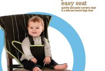 Portable Easy Seat / AVAILABLE NOVEMBER 2013: the safe, comfy and convenient portable easy seat is the perfect companion for on-the-go parents. you can easily take it anywhere you go, including restaurants, grandma and grandpa's, or any place you'd normally need a high chair. portable easy seat comes with its own matching carry bag for easy storage. / by Cozy Cover