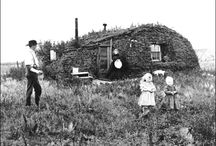 Early American Sod House, Dug Out, Log,and Cave Homes / by Paule Sullivan