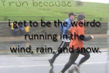 """""""I wus runnin' """" / by Sarah Backes"""