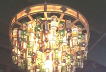 Uses for Ed's old beer bottle collection and tshirts / by Debbie Butcher