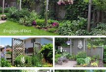 GARDEN Trellis ♥ / Trellis, arbors, screens, structures, gazebos, bridges, arches, raised beds, playhouses, sheds. Plans. Ideas. Creative. Beautiful. Smart. Privacy. Vines. Support.  / by Melissa @EmpressOfDirt.net  ❤