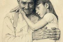 Dessins et croquis. / Sketches //drawings (Mixed tecniques). / by Marrieta Longtemps.