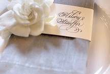 Wedding Napkin Decor / by A Modern Proposal - Edmonton Wedding Planner