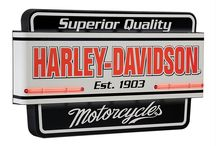 Motorcycle Decor / If you live on two wheels, you will love our selection of officially licensed Harley Davidson® merchandise, cool apparel, wall signs and décor, collectibles, and more! / by Genuine Hotrod