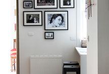 Arrangement of Framed Photos & Art on Walls / by Susan Paris