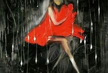 Rain & Umbrella Art / by Kisha Lockner