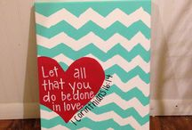 Canvas stuff! / canvases! love painting, it's my newest hobby! :) / by Ashley Nicole