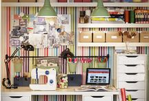 Craft and sewing room ideas! / by Nikki LovesToQuilt