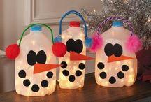 Milk Jug Crafts / by Cheyenne Flournoy