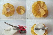 ribbon hair clip / by MayChin
