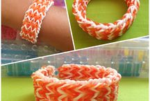 Rainbow Loom Projects / Rainbow loom bracelets and charms / by Maria Victoria Perez-Ausa