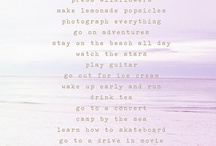 Bucket List  / by Ashley Pena