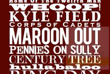 Texas A&M / Aggies Bleed Maroon / by Claire Shalkowski