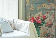 French Shabby Chic Decor / Whites and light pink, and delicate fabrics / by Top Shelf Events