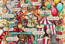 Circus scrapbooking kits / Digital scrapbooking kits and elements with a circus theme. / by Rikki Donovan