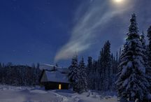 Log Cabin in the woods and snow / by Crystal Buck