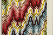 Bargello / Bargello in the nineteenth century could combine other elements than the conventional two steps / by Laura Jones