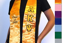 For the Graduate / So you're a graduating Greek? Then you'll probably need one of these. Something Greek has embroidered, printed, and twill lettered stoles to ensure that you'll look fratty at graduation. / by Something Greek