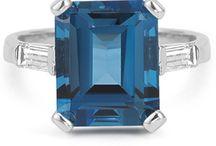 Gemstone Jewelry / Gemstone Rings and jewelry in aquamarine, amethyst, citrine, emerald, garnet, ruby, sapphire, topaz, tanzanite, and more! / by ApplesofGold.com
