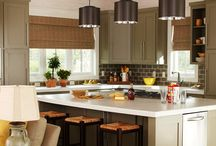 Transitional Kitchens / Transitional kitchens feature the sleek and simple lines of contemporary kitchens and the warmth of traditional designs. Recreate your favorite transitional design with discount kitchen cabinets from www.stockcabinetexpress.com! / by StockCabinetExpress