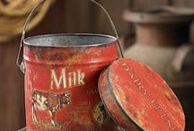 Old tins / tin sings  / by sheryl stow