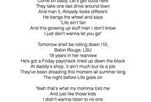 Song Lyrics / by Seneca Hart