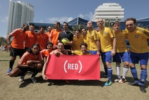 (RED) DJ Football Games - Tiësto & Team Netherlands v. Sebastian Ingrosso & Team Sweden / Tiësto, Sebastian Ingrosso and 12 other top DJ's took the field on March 21,2012 in a battle for bragging rights and to raise money for (RED). Each team played in a custom jersey in their country's signature colors designed specifically for the game.  At the end of the match the jerseys were signed by each player to be auctioned off along with other unique items from the game – proceeds benefit (RED) supported Global Fund grants on the ground to fight AIDS. www.charitybuzz.com/RED / by (RED)