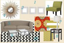 Living Room Design Boards / by Amber Couch