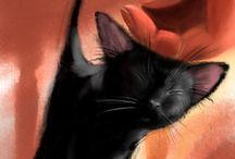 Katte / Cats / by Dalena van der Westhuizen