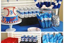 Baseball theme birthday party, back yard games / by Nikki V