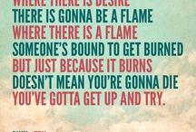 Inspiring song lyrics / by Erin Bohanan