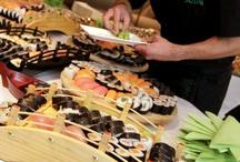 catering sushi / publikujemy tu fotografie z cateringów, przyjęć, imprez, w których uczestniczyły nasze japońskie ryżowe maleństwa / by Matsu Sushi