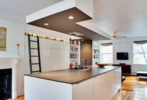 Library ladder in Kitchen / Library ladders in kitchens / by Frances Haugen
