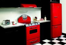 new retro/beachy kitchen / by Jeanette Hartley