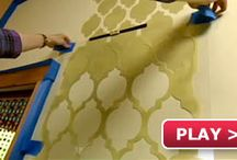 How-To-Stencil Videos and Tips / The board is a compilation of video tutorials on how to stencil. We cover stenciling a feature wall in your home, how to use a stencil brush for great shading effects, creating a Fresco, and more!  / by Cutting Edge Stencils