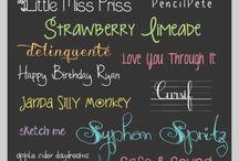 Fonts / by Jonna Ventura (Frayed Knot)
