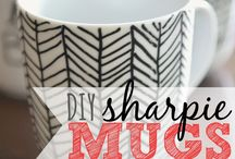 Sharpie Mug design ideas / use OIL based sharpies or other markers.... not regular sharpies!!   / by Cyrena Rattray
