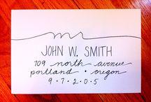 address envelopes / by Michelle Triplett
