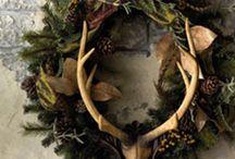 Christmas -- Woodland / christmas christmas christmas woodland woodland woodland outdoor outdoor rustic rustic deer deer mantals mantles decoration decor  / by Mariel Hale