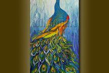 Paint along peacock ideas / by Torri Bates Janzen