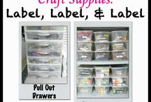 Craft Organization / Get your crafts and craft room organized with these tips, tutorials and how to tutorials on our blog and from our crafty friends. Bowdabra - www.BowdabraBlog.com or www.Bowdabra.com / by Bowdabra @Bowdabra.com
