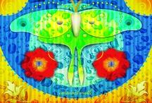 Susan Effenberger's HAPPY Art / Bold Bright Happy Digital Art by Susan Effenberger Portland Oregon artist / by Kris Tabor