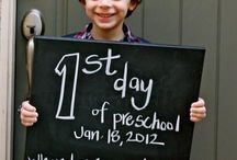 1st day of school pics for each year / by Jackie Veltman
