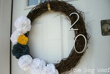 My Wreath Obsession / by Tanya Schroeder @lemonsforlulu.com