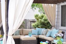 Outside / Porch - Gardening - Deck - Pool / by Erika Tirey
